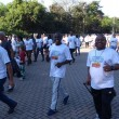 Milton Costa, presidente do Sinticompi, durante a caminhada do ano passado, que reuniu mais de 500 participantes