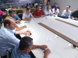 25-01-19-Dirigentes do Conespi durante encontro com o prefeito e o novo presidente da Câmara de Vereadores, Gilmar Rotta