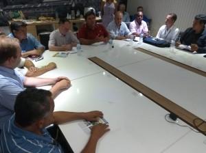 25-01-19-Dirigentes do Conespi durante encontro com o prefeito e o novo presidente da Câmara de Vereadores, Gilmar Rotta(1)