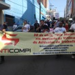 26-04-19- Os dirigentes sindicais percorreram diversas ruas centrais repudiando os acidentes de trabalho